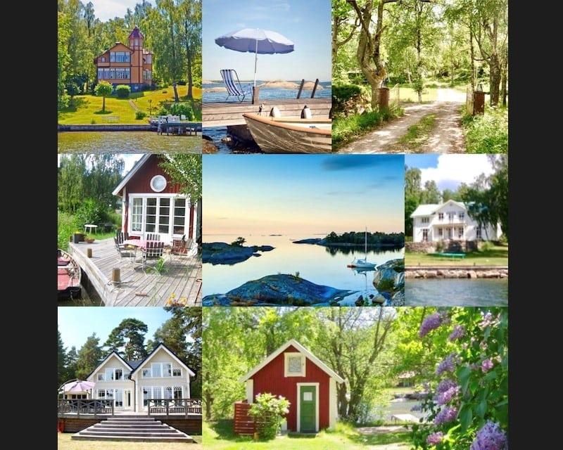 stockholms skärgårdsstugor collage