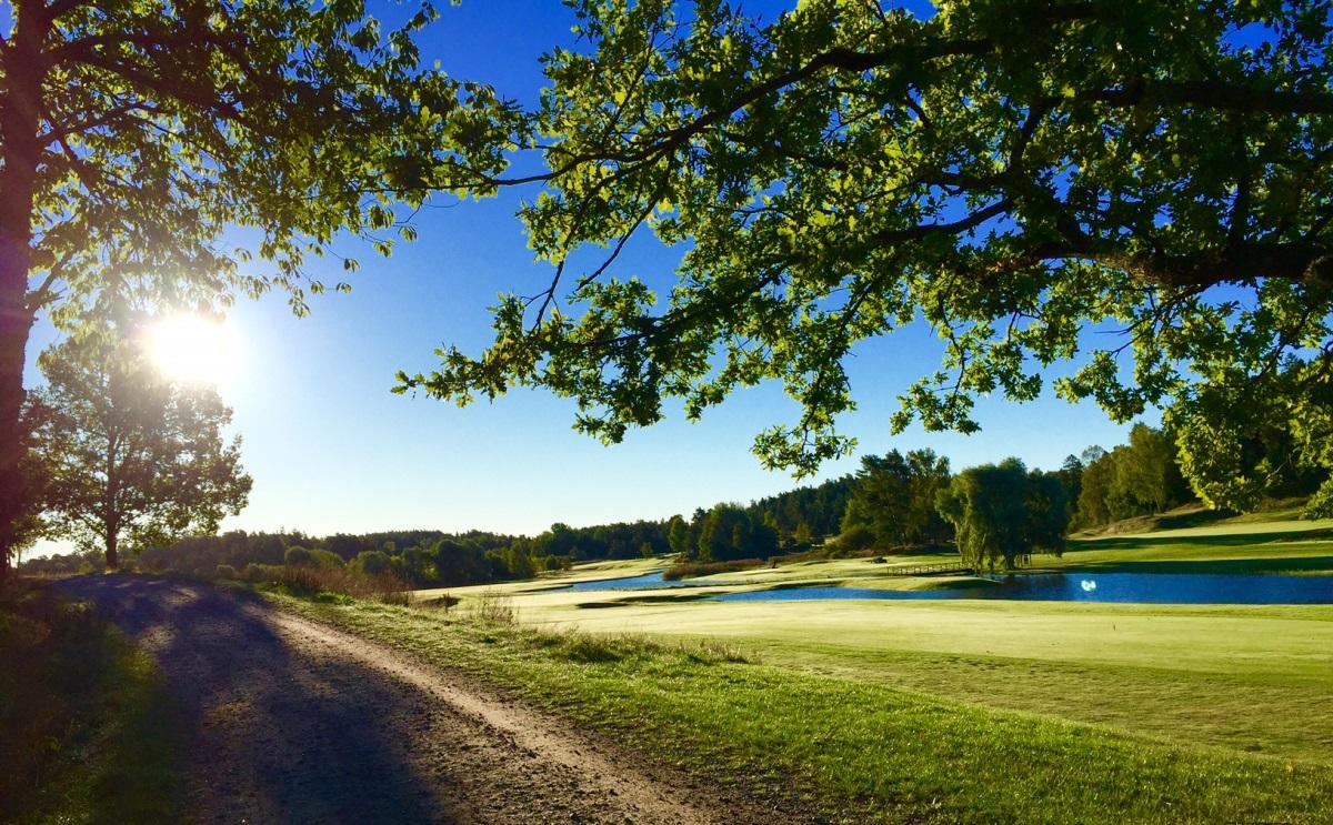 fågelbro golfbana med fin sjö
