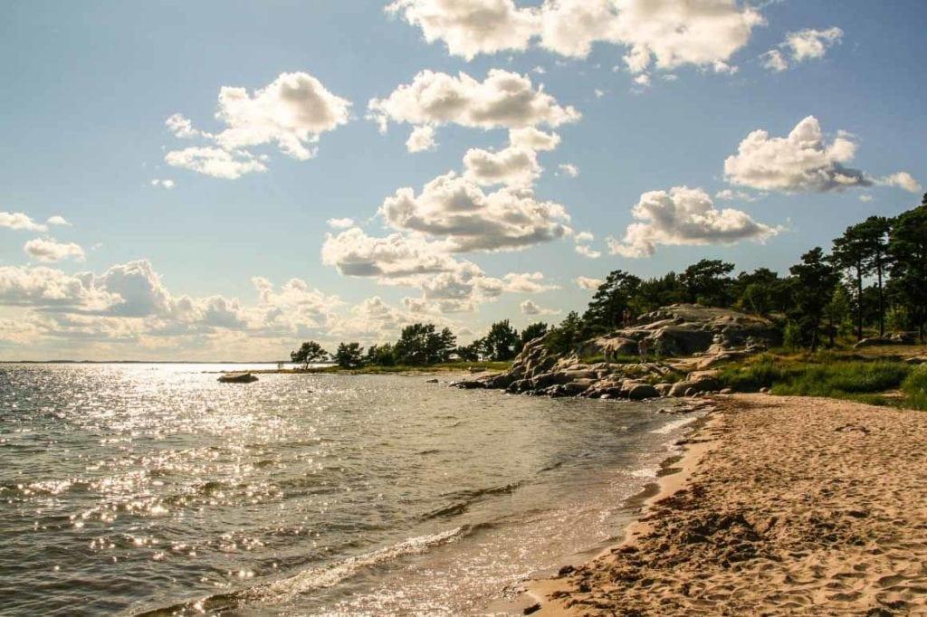 trouville beach on sandhamn