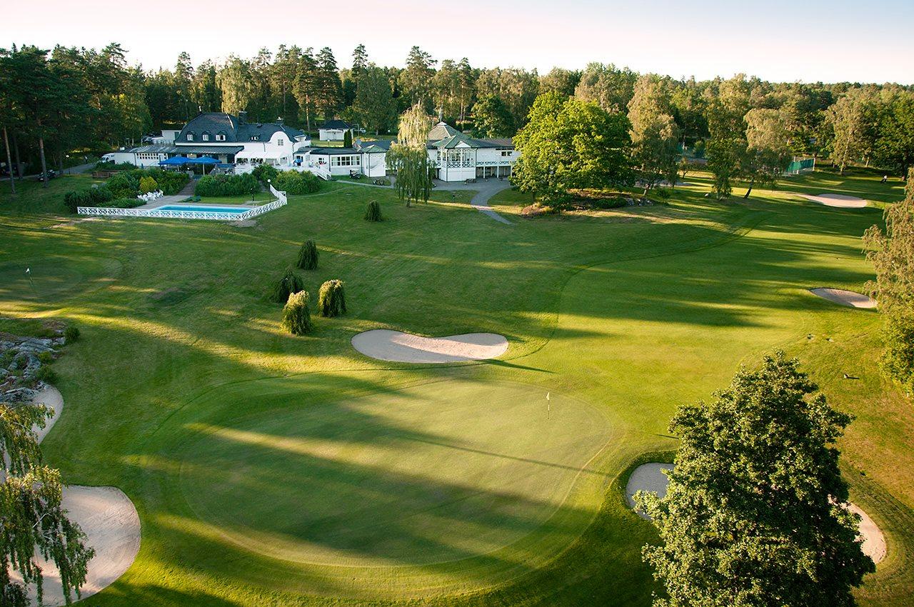 stor golfbana på wermdö golf and country club