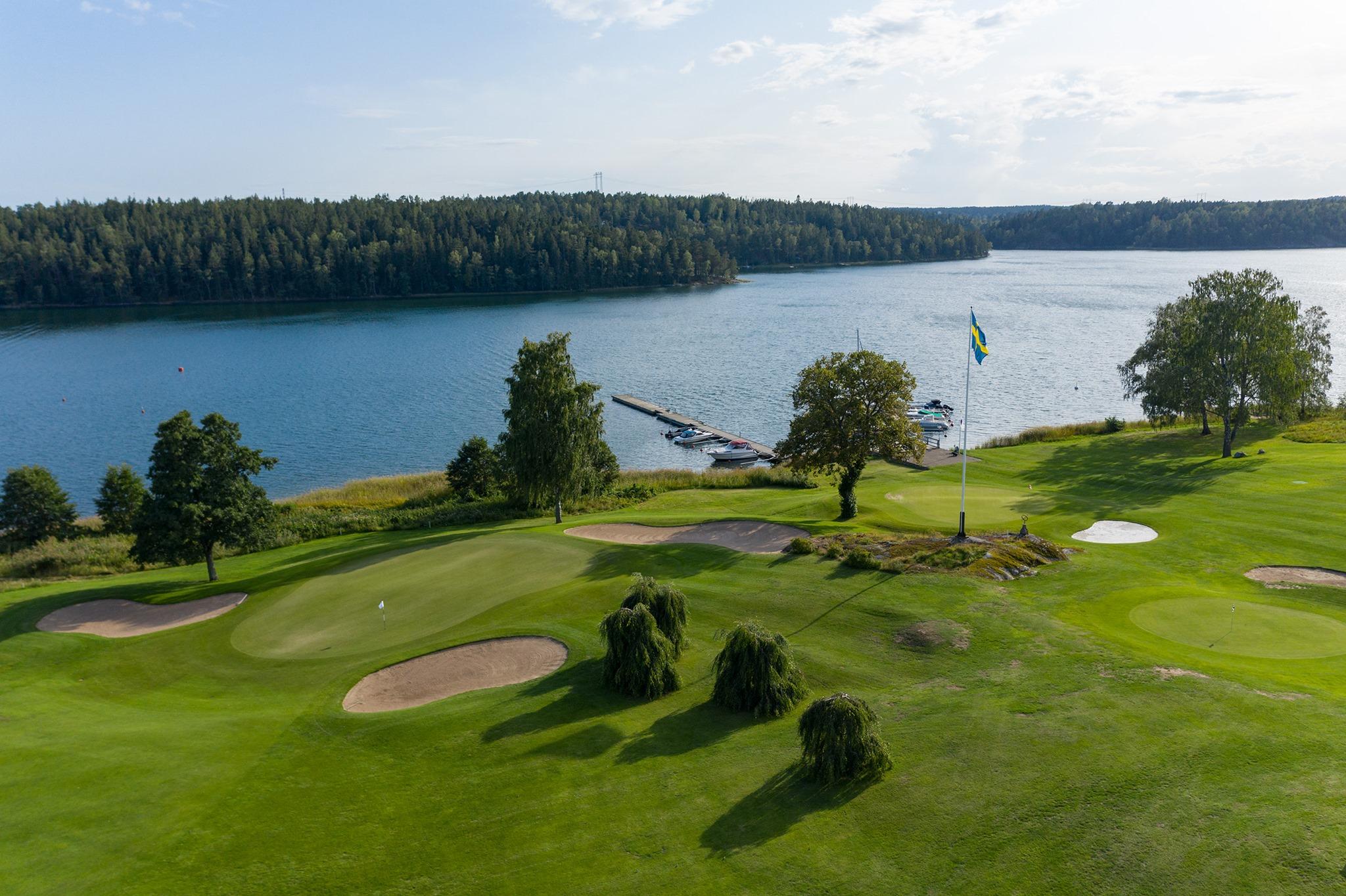 golfbana vid vattnet wermdö golfklubb