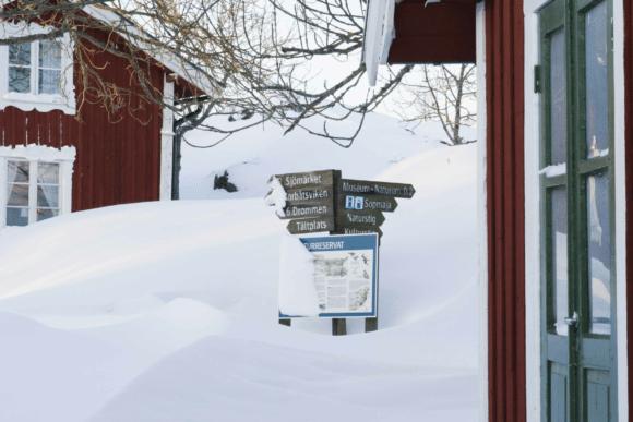 bullerö på vintern