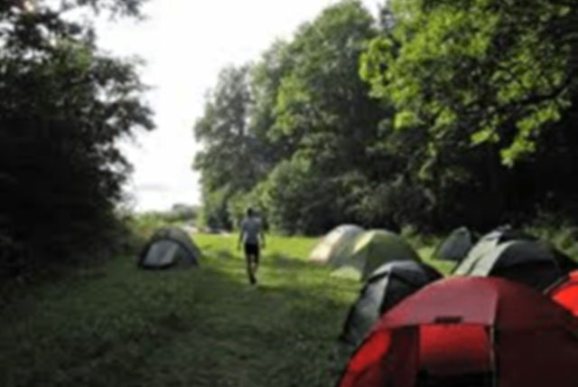 Tält på Grinda tältplats