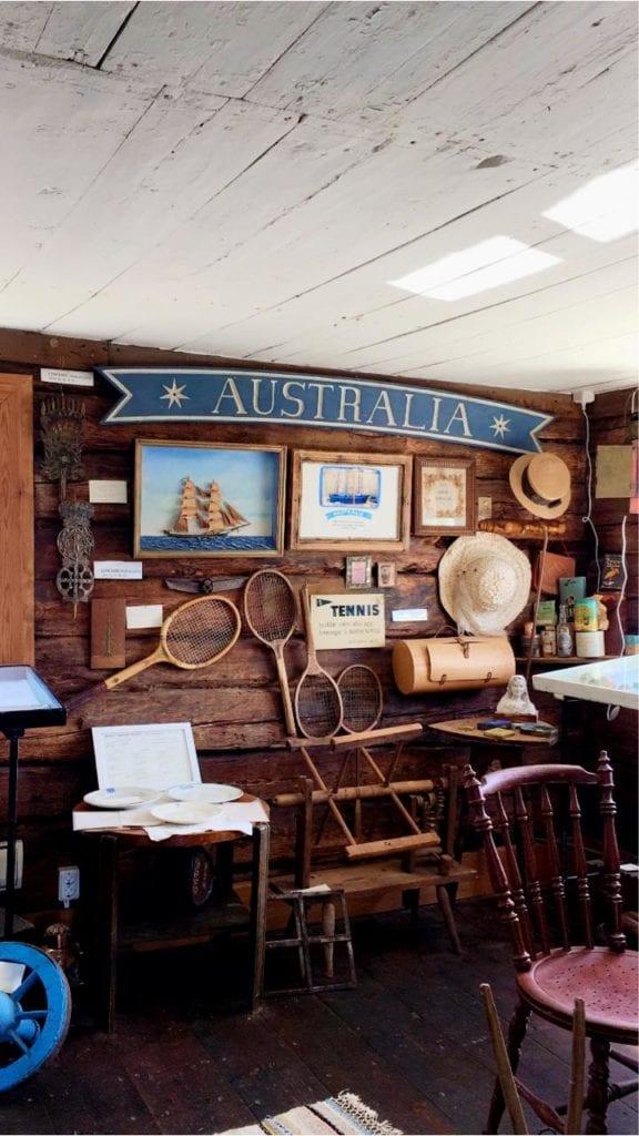 sandhamns museum Australia gamla saker